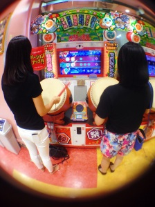 We went to an arcade and played this drum game, which was super fun.