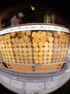Almost every shop had tons and tons of rice based treats.