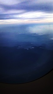 We flew over a beautiful lush forrest on the way to Thailand. This was the first volcano we saw.